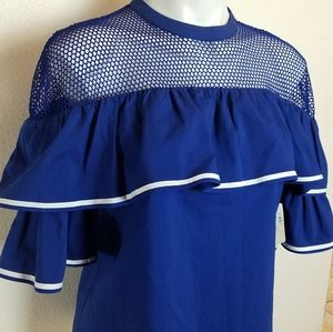 Belle sky blouse M Apolo blue And White Ribbon Ruf